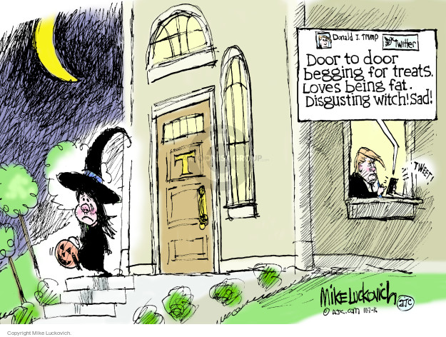 Mike Luckovich  Mike Luckovich's Editorial Cartoons 2016-10-02 Halloween