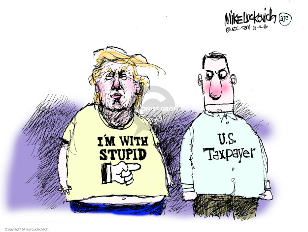 Cartoonist Mike Luckovich  Mike Luckovich's Editorial Cartoons 2016-10-04 election