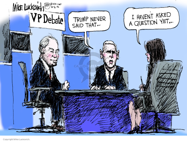 Mike Luckovich  Mike Luckovich's Editorial Cartoons 2016-10-06 Mike Pence