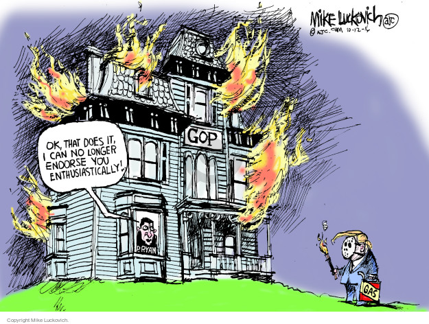 Cartoonist Mike Luckovich  Mike Luckovich's Editorial Cartoons 2016-10-12 election