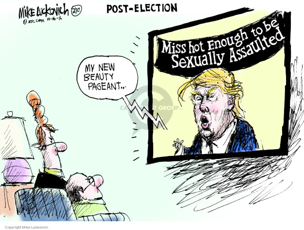 Cartoonist Mike Luckovich  Mike Luckovich's Editorial Cartoons 2016-10-16 election