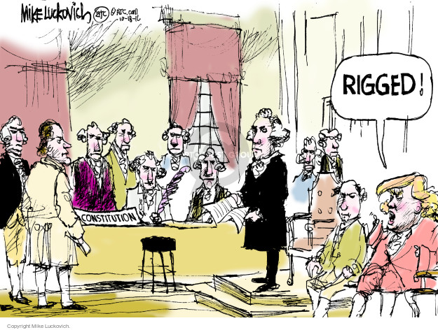 Cartoonist Mike Luckovich  Mike Luckovich's Editorial Cartoons 2016-10-18 Constitution