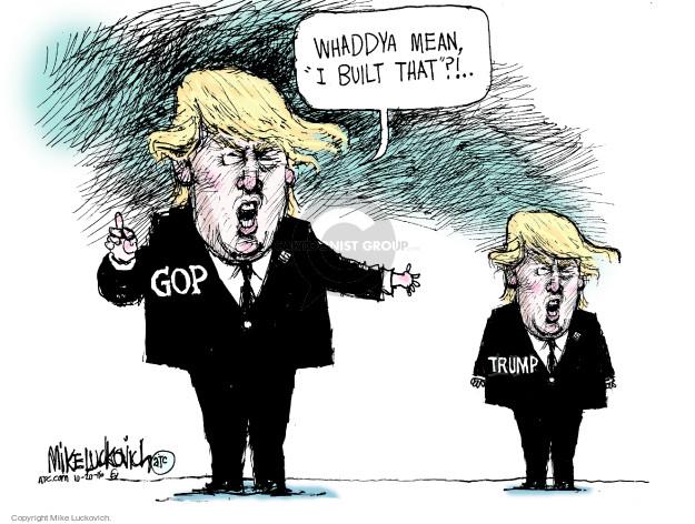 Cartoonist Mike Luckovich  Mike Luckovich's Editorial Cartoons 2016-10-20 election