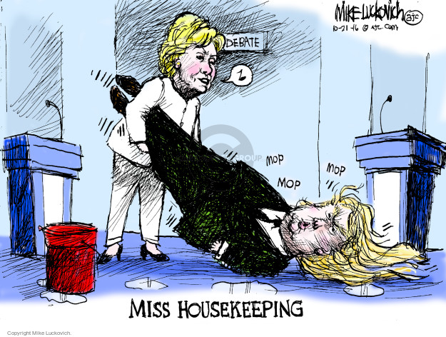 Cartoonist Mike Luckovich  Mike Luckovich's Editorial Cartoons 2016-10-21 Hillary Clinton