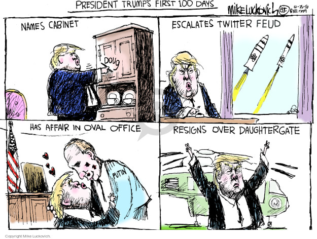 Mike Luckovich  Mike Luckovich's Editorial Cartoons 2016-10-25 presidential election
