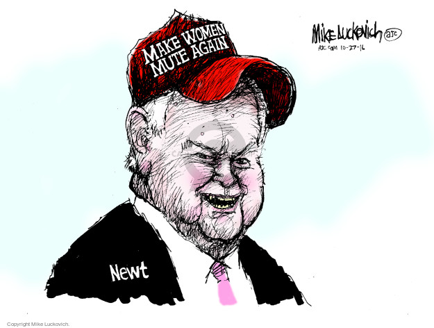 Cartoonist Mike Luckovich  Mike Luckovich's Editorial Cartoons 2016-10-27 election