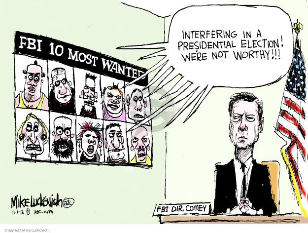 Cartoonist Mike Luckovich  Mike Luckovich's Editorial Cartoons 2016-11-01 election