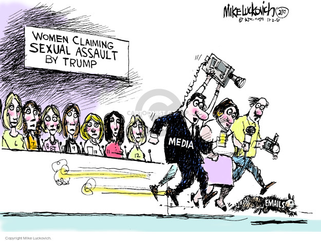 Cartoonist Mike Luckovich  Mike Luckovich's Editorial Cartoons 2016-11-02 claim