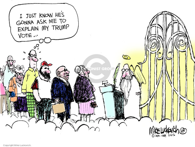 Cartoonist Mike Luckovich  Mike Luckovich's Editorial Cartoons 2016-11-04 election