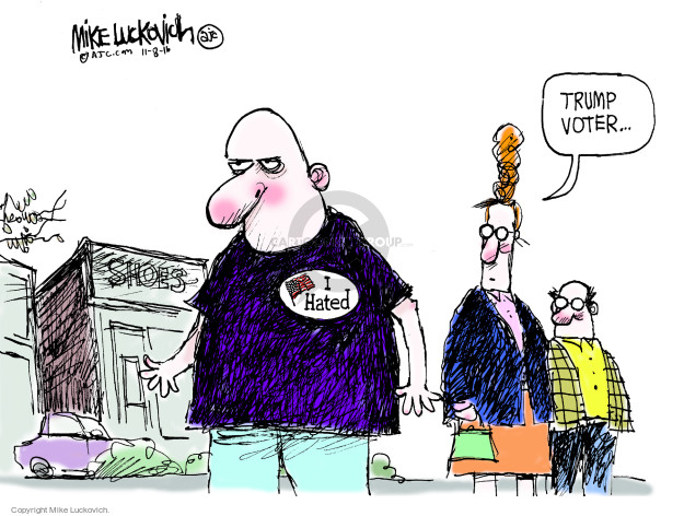 Mike Luckovich  Mike Luckovich's Editorial Cartoons 2016-11-08 voting rights