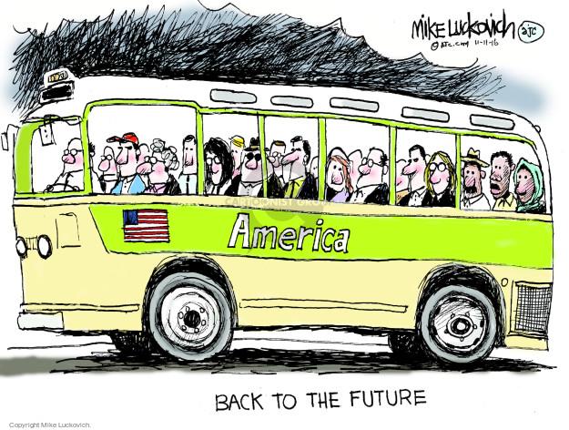 Cartoonist Mike Luckovich  Mike Luckovich's Editorial Cartoons 2016-11-11 race