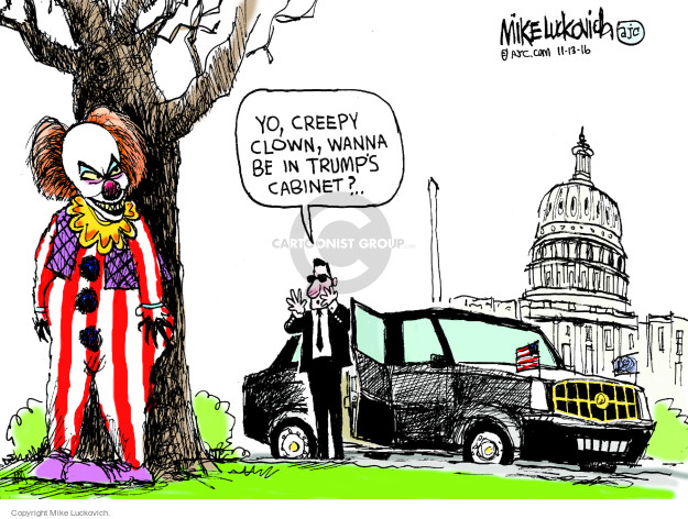 Cartoonist Mike Luckovich  Mike Luckovich's Editorial Cartoons 2016-11-13 executive