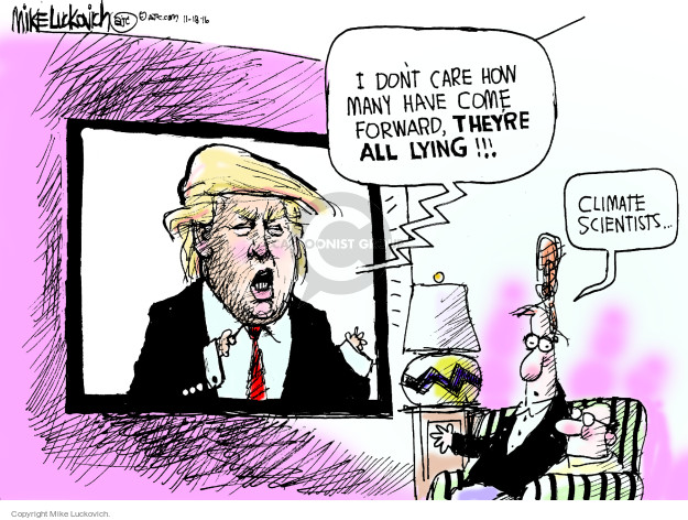 Cartoonist Mike Luckovich  Mike Luckovich's Editorial Cartoons 2016-11-18 election
