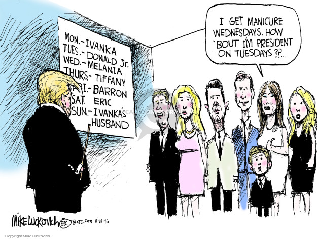 Cartoonist Mike Luckovich  Mike Luckovich's Editorial Cartoons 2016-11-20 responsibility