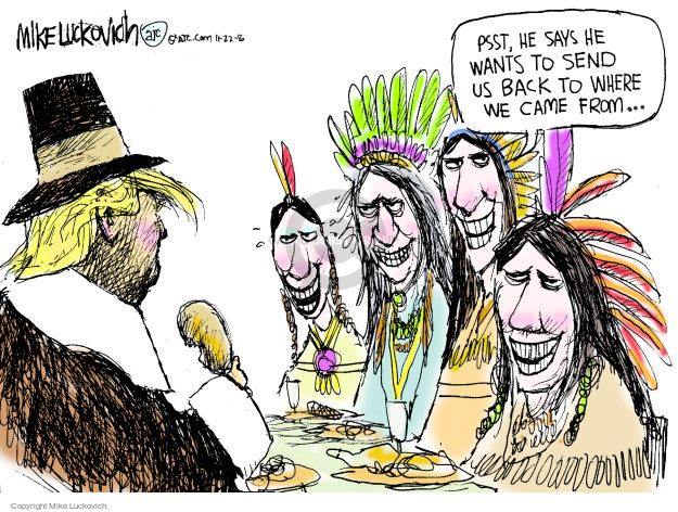 Cartoonist Mike Luckovich  Mike Luckovich's Editorial Cartoons 2016-11-22 American History