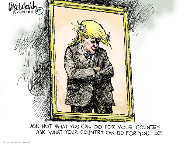 Cartoonist Mike Luckovich  Mike Luckovich's Editorial Cartoons 2016-11-23 American History