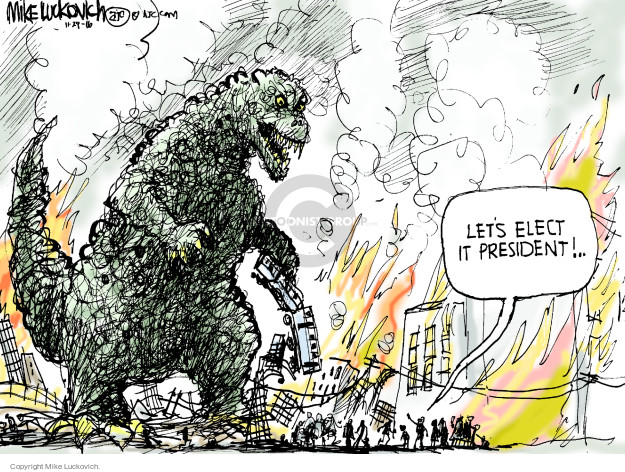 Cartoonist Mike Luckovich  Mike Luckovich's Editorial Cartoons 2016-11-29 election