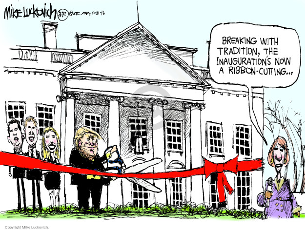 Breaking with tradition, the Inaugurations now a ribbon-cutting …