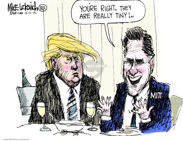 Cartoonist Mike Luckovich  Mike Luckovich's Editorial Cartoons 2016-12-02 former governor