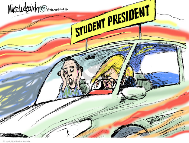 Cartoonist Mike Luckovich  Mike Luckovich's Editorial Cartoons 2016-12-08 Presidency