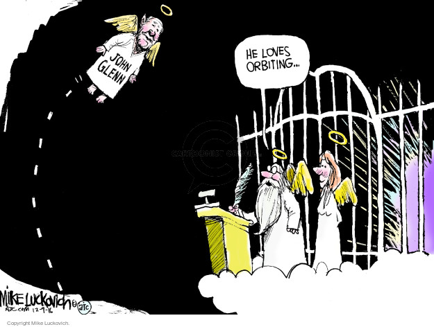 Mike Luckovich  Mike Luckovich's Editorial Cartoons 2016-12-09 death dying