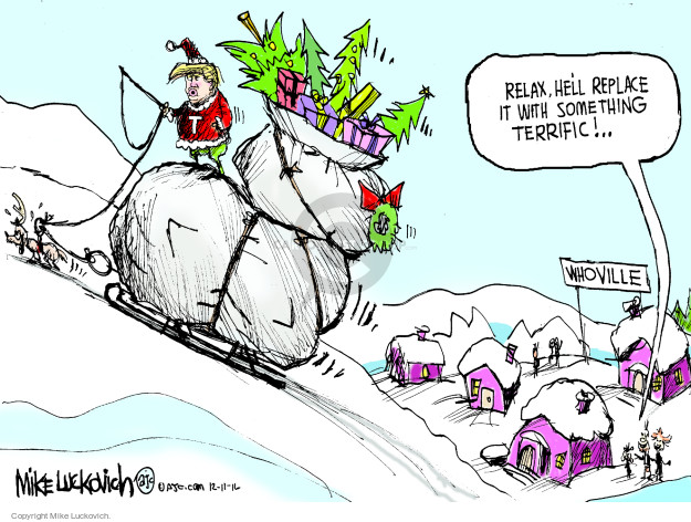 Cartoonist Mike Luckovich  Mike Luckovich's Editorial Cartoons 2016-12-11 Presidency