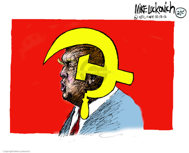 Cartoonist Mike Luckovich  Mike Luckovich's Editorial Cartoons 2016-12-13 communism
