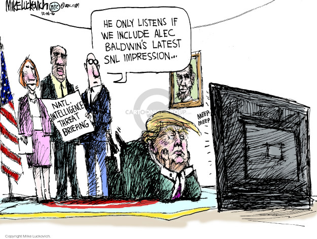 Cartoonist Mike Luckovich  Mike Luckovich's Editorial Cartoons 2016-12-14 Presidency
