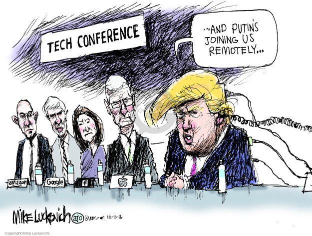 Cartoonist Mike Luckovich  Mike Luckovich's Editorial Cartoons 2016-12-16 CIA