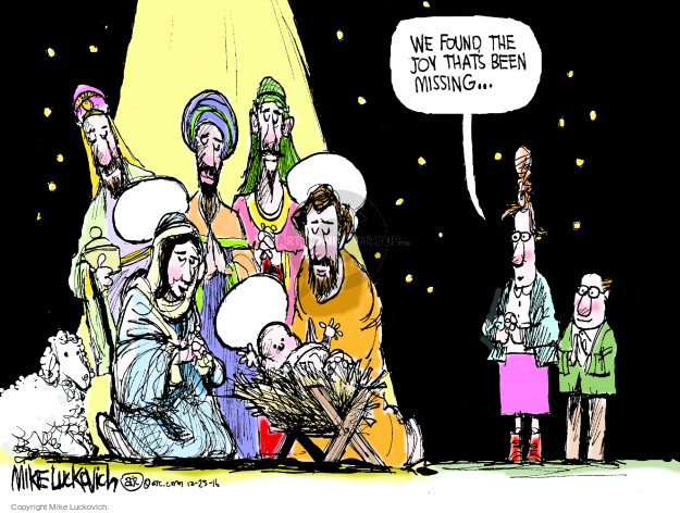Cartoonist Mike Luckovich  Mike Luckovich's Editorial Cartoons 2016-12-25 baby