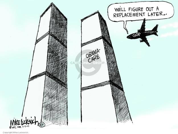 Cartoonist Mike Luckovich  Mike Luckovich's Editorial Cartoons 2017-01-05 congress health care