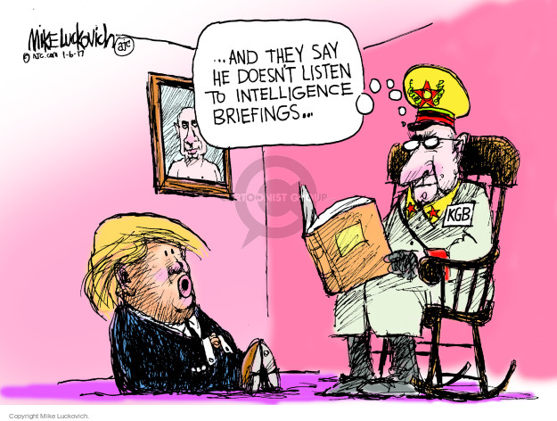 Cartoonist Mike Luckovich  Mike Luckovich's Editorial Cartoons 2017-01-06 intelligence