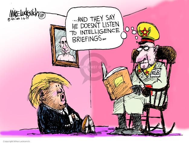 Cartoonist Mike Luckovich  Mike Luckovich's Editorial Cartoons 2017-01-06 Presidency