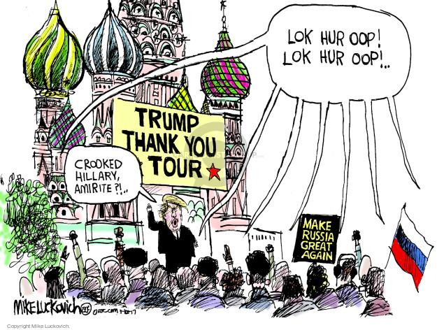 Mike Luckovich  Mike Luckovich's Editorial Cartoons 2017-01-10 2016 Election Hillary Clinton