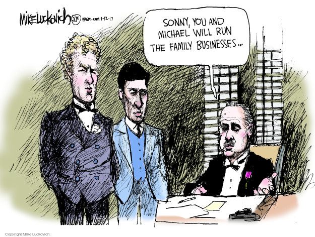 Mike Luckovich  Mike Luckovich's Editorial Cartoons 2017-01-12 conflict of interest