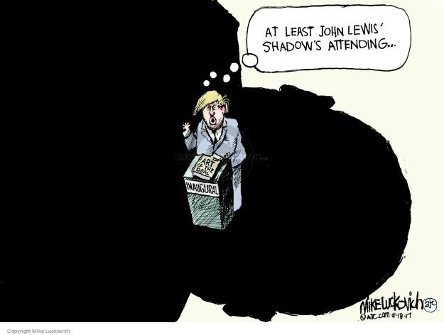 Cartoonist Mike Luckovich  Mike Luckovich's Editorial Cartoons 2017-01-18 John