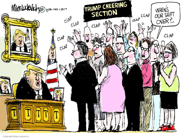 Mike Luckovich  Mike Luckovich's Editorial Cartoons 2017-01-24 presidential administration