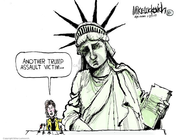 Mike Luckovich  Mike Luckovich's Editorial Cartoons 2017-01-27 freedom