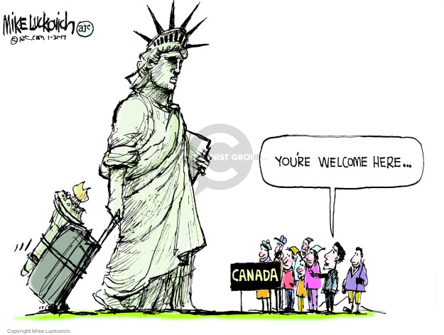 Mike Luckovich  Mike Luckovich's Editorial Cartoons 2017-01-31 Homeland Security