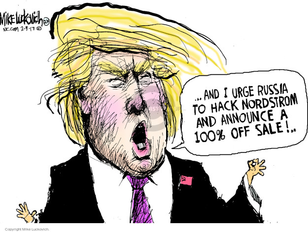 Mike Luckovich  Mike Luckovich's Editorial Cartoons 2017-02-09 conflict