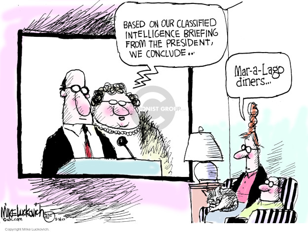 Cartoonist Mike Luckovich  Mike Luckovich's Editorial Cartoons 2017-02-14 intelligence