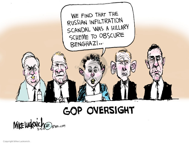 Cartoonist Mike Luckovich  Mike Luckovich's Editorial Cartoons 2017-02-15 blame