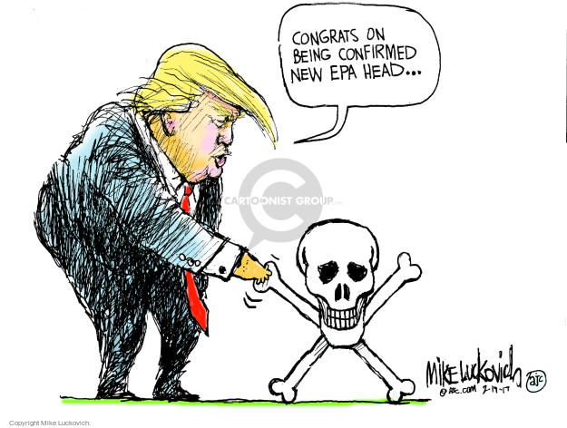 Cartoonist Mike Luckovich  Mike Luckovich's Editorial Cartoons 2017-02-19 Presidency