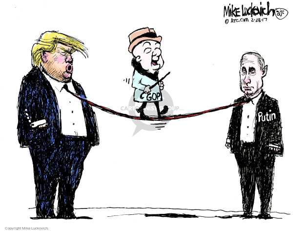 Cartoonist Mike Luckovich  Mike Luckovich's Editorial Cartoons 2017-02-28 Trump administration