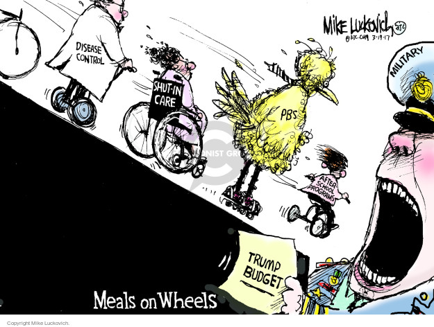 Cartoonist Mike Luckovich  Mike Luckovich's Editorial Cartoons 2017-03-19 weaponry