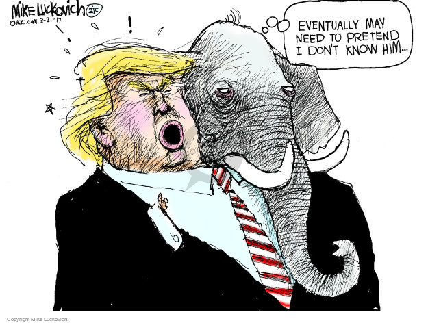 Cartoonist Mike Luckovich  Mike Luckovich's Editorial Cartoons 2017-03-21 Presidency