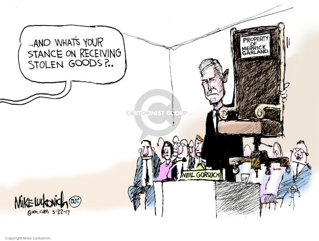 Cartoonist Mike Luckovich  Mike Luckovich's Editorial Cartoons 2017-03-22 court