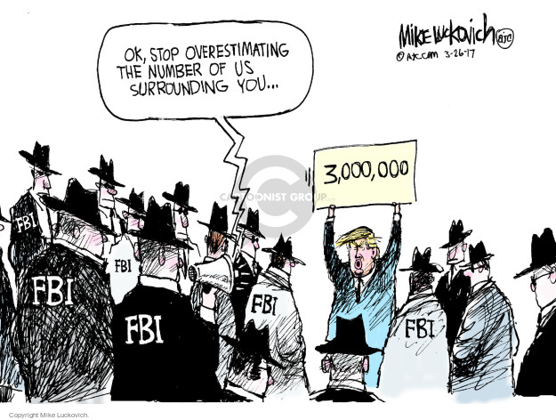 Cartoonist Mike Luckovich  Mike Luckovich's Editorial Cartoons 2017-03-26 intelligence