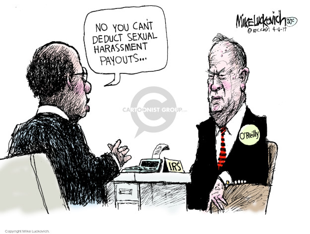 Cartoonist Mike Luckovich  Mike Luckovich's Editorial Cartoons 2017-04-04 sexual harassment
