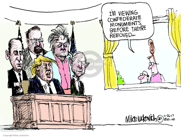Cartoonist Mike Luckovich  Mike Luckovich's Editorial Cartoons 2017-04-26 Presidency